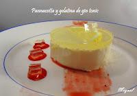 Pannacotta y gelatina de gin tonic