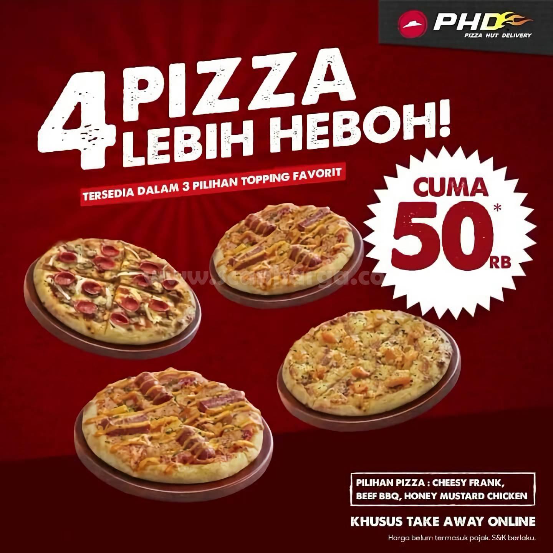 Promo PHD √ 4 Pizza Lebih HEBOH Cuma Rp 50RB