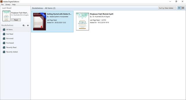 Aplikasi Adobe Digital Edition