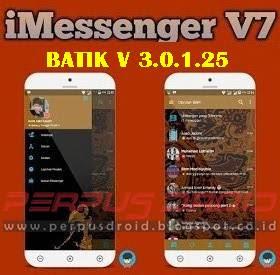 Download BBM Mod iMessenger Batik Versi 3.0.1.25 Apk
