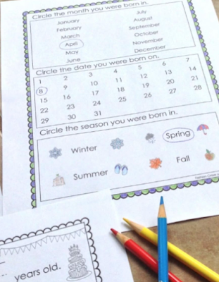 All about me book for K-1