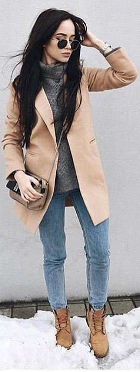 Outfit Idea: Coat and Jeans