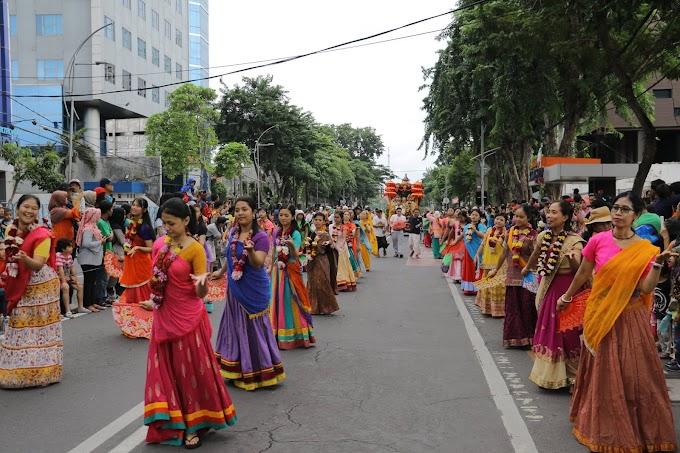 Jagannatha Ratha Yatra at Surabaya Vaganza, Indonesia