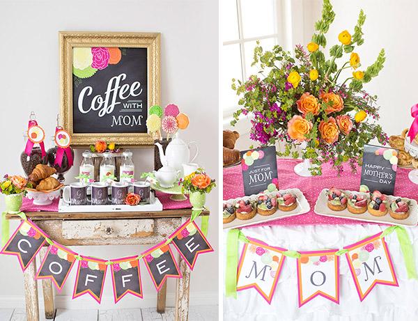 """Fiesta del día de la madre temática """"Café con Mamá"""" una idea para celebrar"""