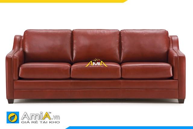 Ghế sofa văng đẹp màu nâu da bò AmiA 20225