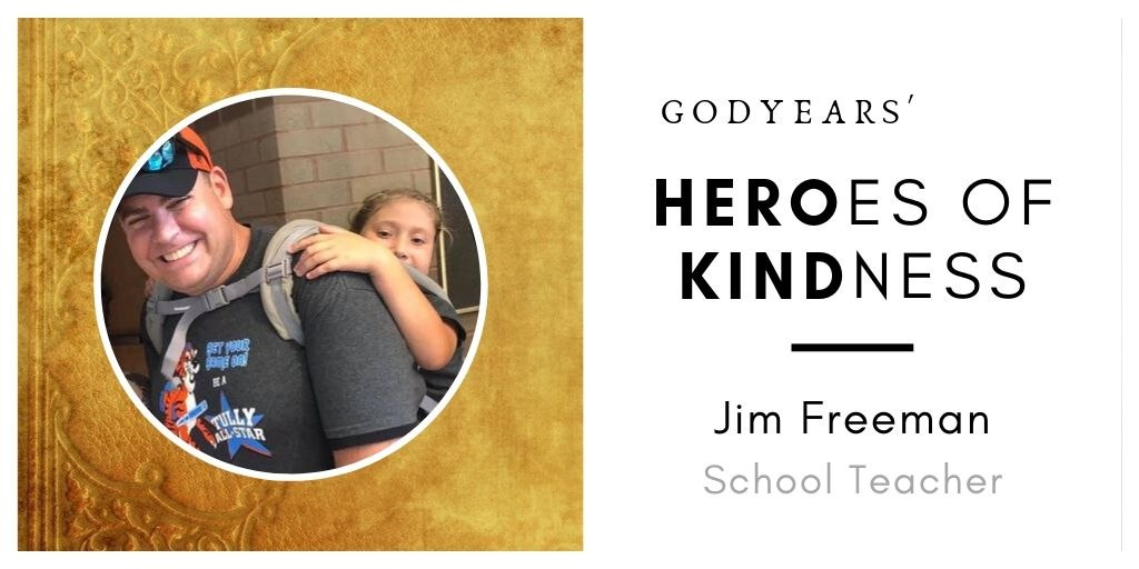 School teacher Jim Freeman carried his differently abled 25 kilo student across the entire trek to ensure she did not miss out on a field trip with her friends.