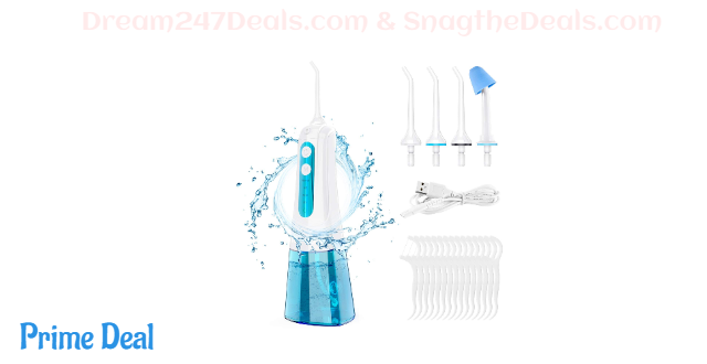 Cordless Water Flosser Dental Oral Irrigator with DIY Mode 40%OFF
