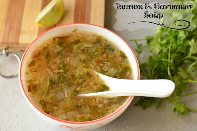 Prepare this flavorful lemon and coriander soup