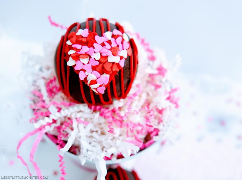 heart hot chocolate bombs recipe