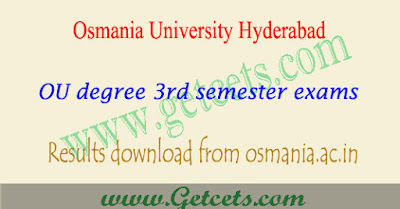 Manabadi OU degree 1st sem results 2019 First year exams