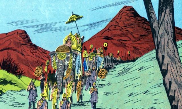 Vishvamitra and his army