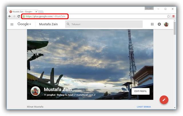 Cara Mudah Mengganti URL Google Plus