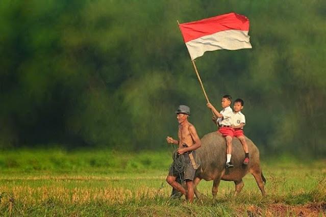 gambar bendera indonesia berkibar