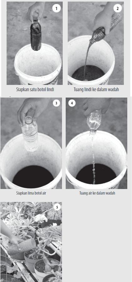 cara mengaplikasikan pupuk organik cair