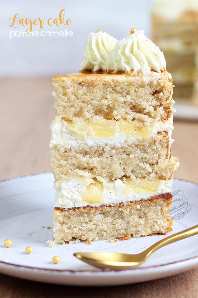 Layer cake aux pommes