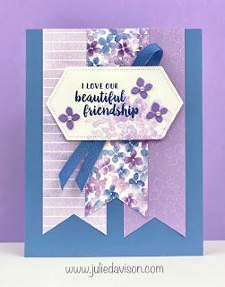 Stampin' Up! Beautiful Friendship Hydrangea Card ~ www.juliedavison.com #stampinup