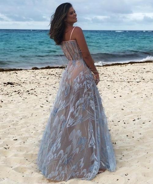 vestido madrinha praia