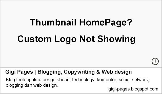 Cara Membuat Thumbnail Image Khusus URL HomePage