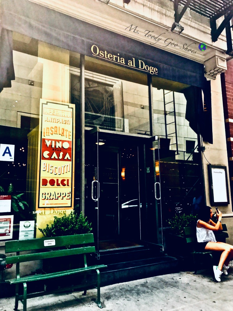 Osteria al Doge- One of  50 Places To Eat Near Tiimes Square - From Cheap To Chic!   Ms. Toody Goo Shoes