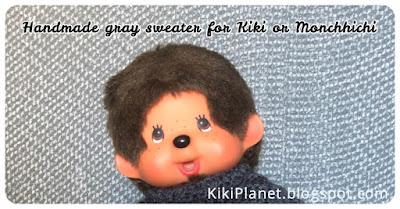 kiki monchhichi handmade fait main clothes vehement knitting tricot doll poupée