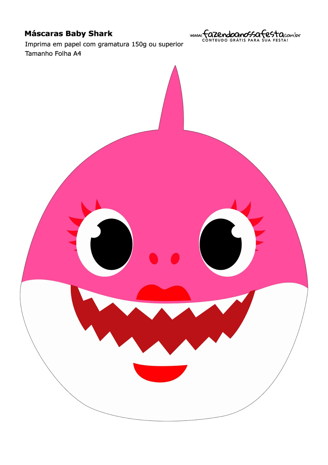Baby Shark Party Free Printable Masks Oh My Baby