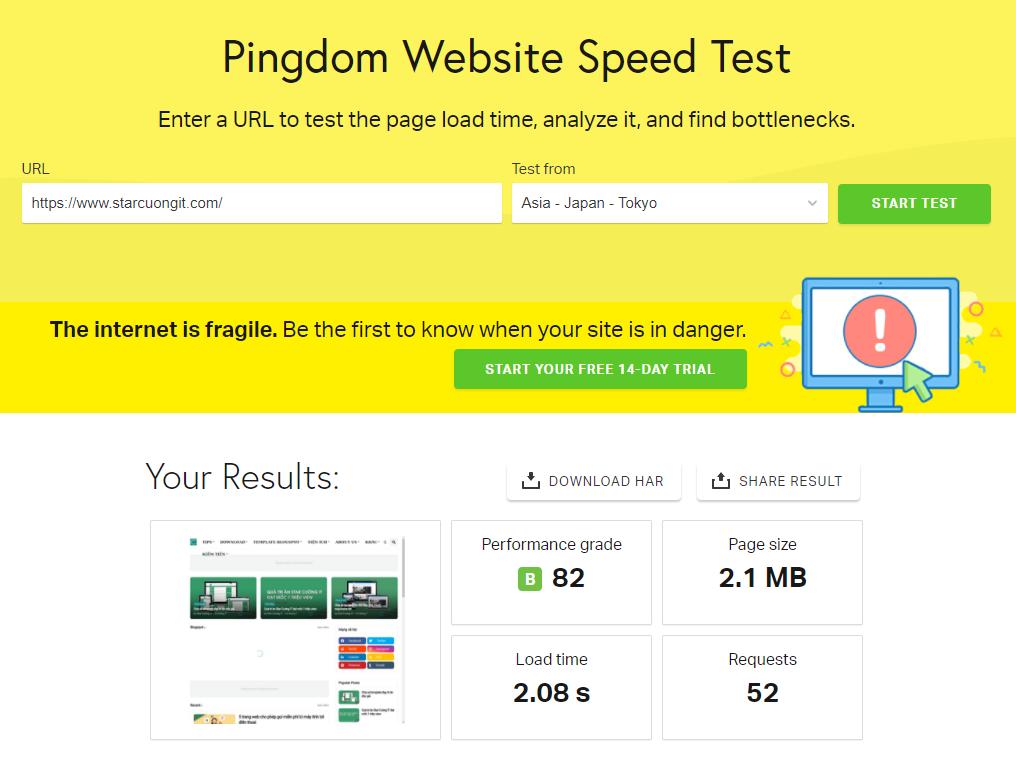 Top 3 công cụ test tốc độ website tốt nhất
