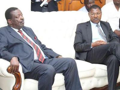 Musalia Mudavadi and Moses Wetangula PHOTO | BMS