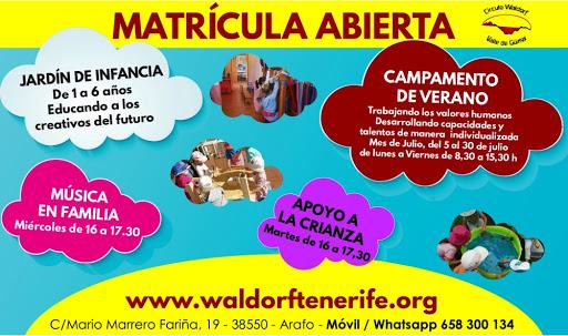 """CENTRO WALDORF DE TENERIFE CÍRCULO PEDAGÓGICO TRIFORMADO """"VALLE DE GÜÍMAR""""-CANARIAS"""