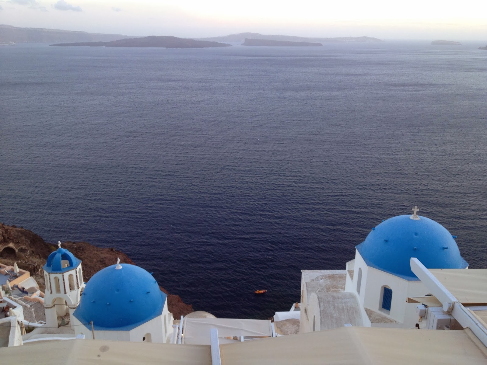 Santorini - The view during dinner