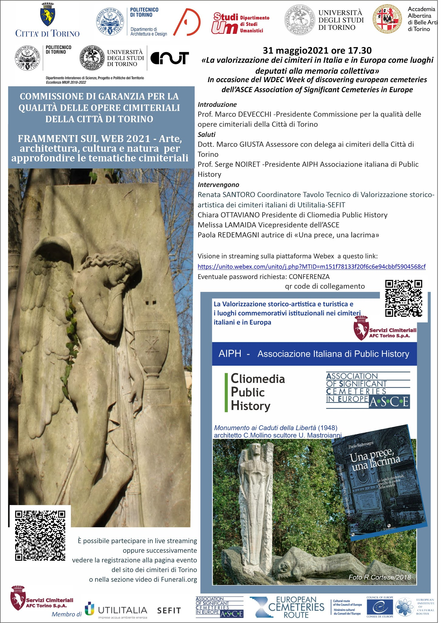 WDEC 2021: Online conference by the Monumental Cemetery of Turin