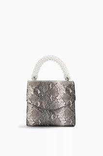 AURORA Pearl and Snake Print Grab Bag