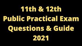 12th Practical Questions 2021