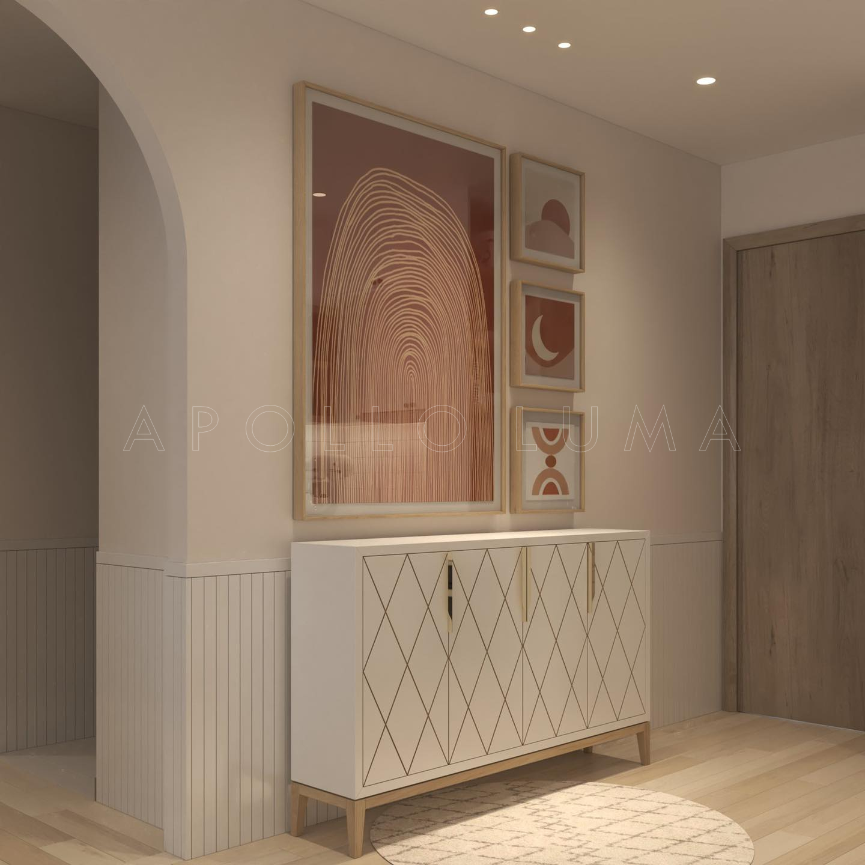 Thiết kế nội thất căn hộ 55m2 (2PN+1) Vinhomes Ocean Park Gia Lâm