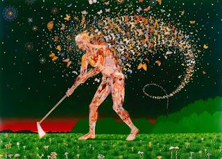 surrealistas-pinturas-con-personas-y-aves-explosión-de-color pinturas-personas-aves-estilo-surrealismo