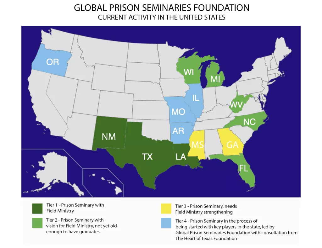 global prison seminaries foundation has been up and running since june of 2016 in just a very short period of time we gratefully report the current