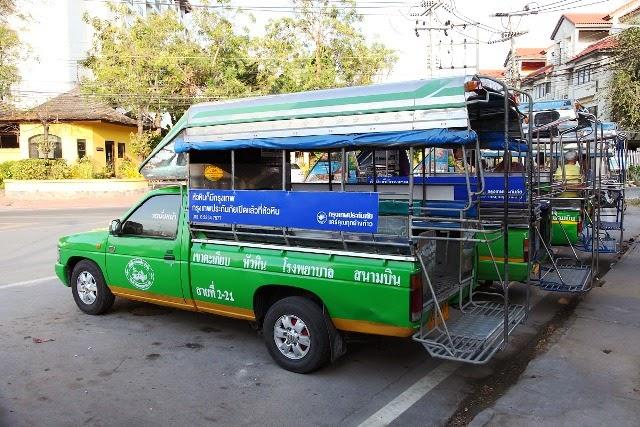 grünes Sammeltaxi Hua Hin