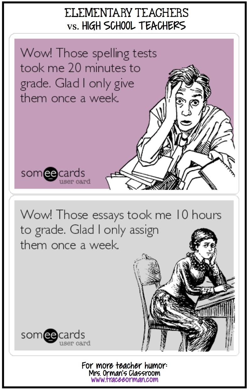 Image result for elementary vs. high school teacher