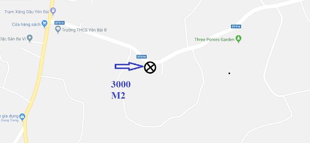 Bán nhà 3000m2 mặt đường DT416 Vân Hòa Sơn Tây Hà Nội