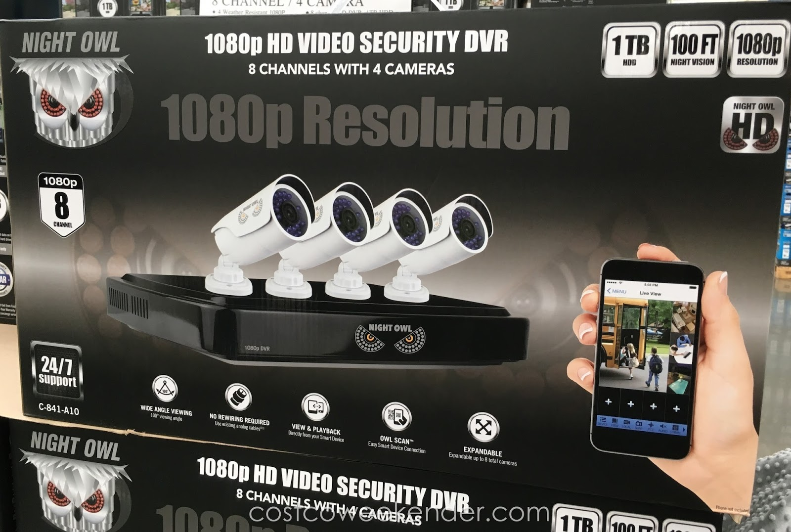 Camera Surveillance Exterieur Costco Night Owl C 841 A10 Hd Video Security System Costco