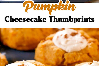 Pumpkin Cheesecake Thumbprints