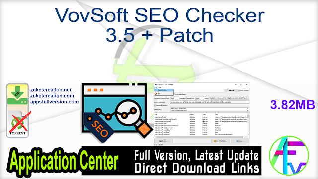 VovSoft SEO Checker 3.5 + Patch