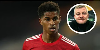 Ole Gunnar Solskjaer confirmed Marcus Rashford has been playing with sore foot
