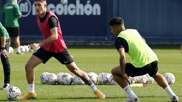 Málaga, entrenamiento con la ausencia de Hicham