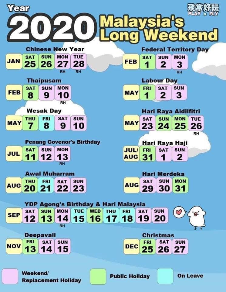 Kalendar 2020 Cuti Umum Dan Cuti Sekolah Malaysia Calendar Printables Marketing Calendar Template Personal Calendar