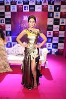 Shreya Saran in Skin Tight Golden Gown ~  Exclusive 017.JPG
