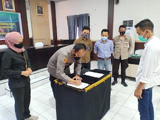Polres Sinjai Akan Bangun Perumahan Subsidi Untuk Polri,Kapolres Mou Dengan PT.Mega Buana Nusa Indah