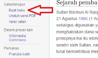 Cara Download Dan Menyimpan Artikel Halaman Wikipedia Menjadi E-Book PDF Dan WORD