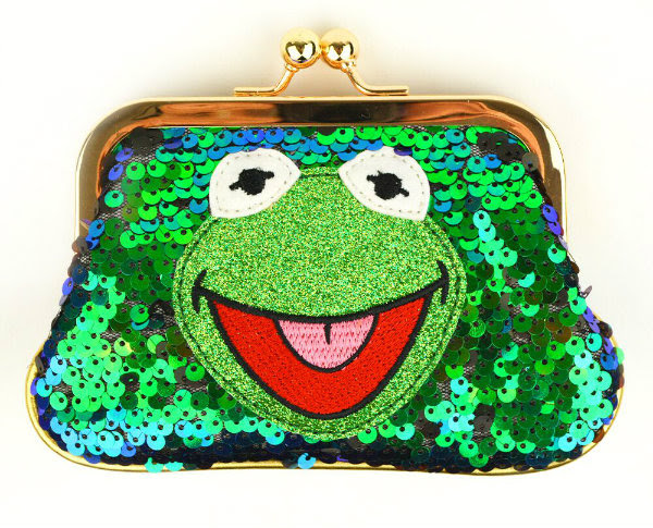 green sequins Kermit the frog Irregular Choice coin purse