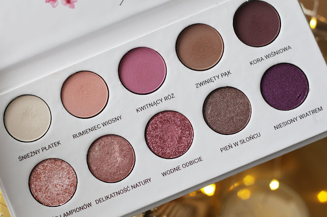 DiM Agnieszka Janoszka x Glam Shop Kwitnąca Wiśnia - recenzja palety | ideal eyeshadow palette for autumn