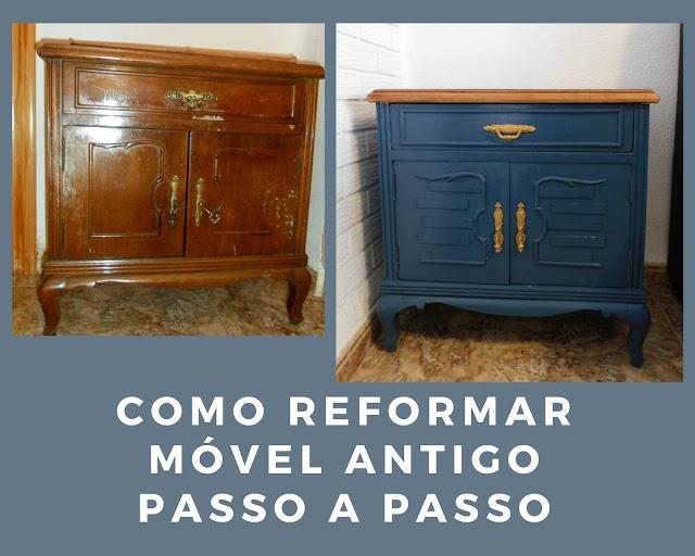 Móvel antigo pintado - Antes e Depois